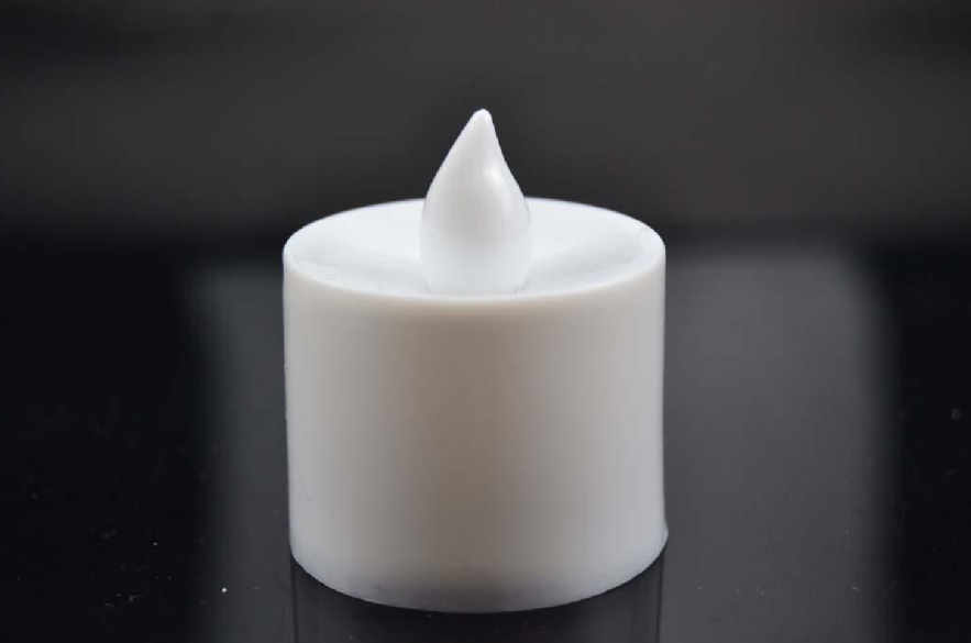 White shell electronic candle lights