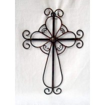 Black Ornate Metal Cross Wall Art