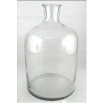Clear Glass Vase Candle Holder  18X18X32 cms