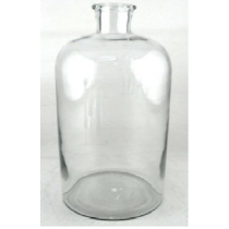 Clear Glass Vase Candle Holder 13.5X13.5X32 cms