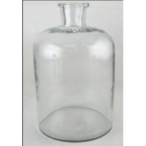 Clear Glass Vase Candle Holder 13*13*25 cms