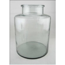Clear Glass Vase Candle Holder 24*24*32 cms