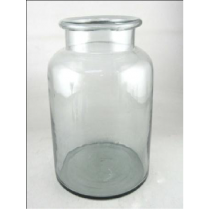 Clear Glass Vase Candle Holder  20X20X31 cms
