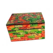 Amazing Colorful Checkered Wood Jewelry Box