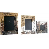 Antique Wooden Photo Frame 3 Piece Set