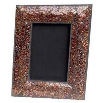 Wooden Photo Frame With Brown Colored Glass Edge
