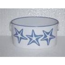 Handpainted Stars Design Oval Shaped Metal Planter