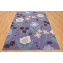 Floral Design Hand Tufted Carpet    Size- 8 X 12