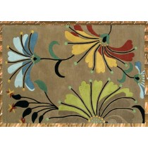Colored Acrylic Hand Tufted Floor Carpet,  Size- 8 X 12