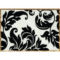 Black & White Hand Tufted Area Carpet,  Size- 8 X 12