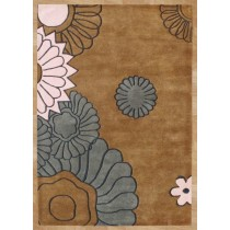 Hand Tufted Floral Area Carpet,  Size- 8 X 12