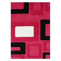 Hand Tufted Woolen Pink Carpet,  Size- 8 X 12