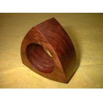 Triangular Wood-Natural napkin ring