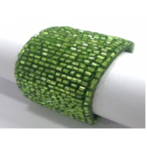 Green colored Tubular Beaded napkin rings