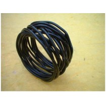 Twisted Metal Wire Black Napkin Ring