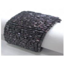 Dark purple beaded napkin ring