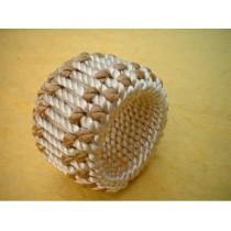 Yarn Braided Ivory/Gold napkin ring