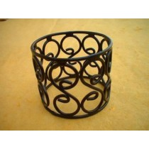 Wrought Iron-Scroll Black