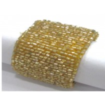 yellow tabular beaded napkin ring