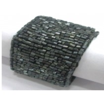 Black Tubular Beaded Napkin Rings,