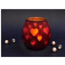 RED Oval Metal Lantern