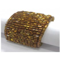 Gold tabular beaded napkin ring