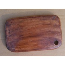 10'' x 6'' Natural Wooden Chopping Board Round Edge
