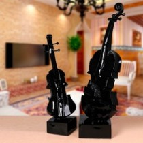 Small size black violin musical instrument wedding decoration (A)