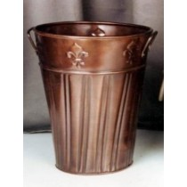 Copper Antique Metal Planter Size 15x15x30 CM