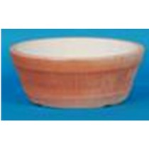 Terracotta Plastic Round Orange Bowl Planter