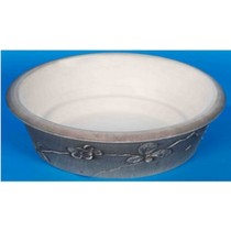 Terracotta Plastic White Rock Plastic Bowl
