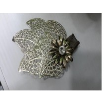 windflower with leaf design napkin ring