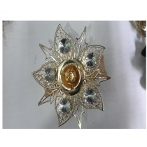 golden and silver rose napkin ring