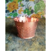 Metal Votive Candle Holder   Size - 10x10cms.