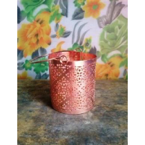 Metal Votive Candle Holder   Size - 8.5x10 cms.