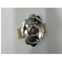 Silver rose napkin ring