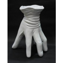 White Decorative Hand Shape Flower Vase