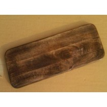 16'' x 6'' Natural Brown Curved Chopping Board