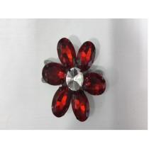 Red stone flower  napkin ring