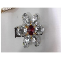 crystal water colored stone napkin ring