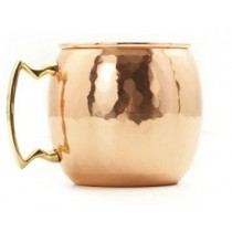 Copper beer mug with hammered