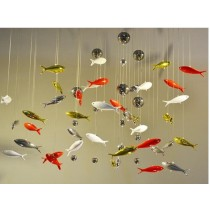 3D transparent fish wall decoration