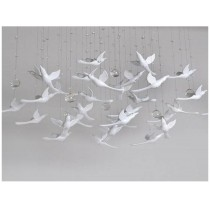3D transparent flying birds wall decoration (A)