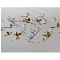 3D transparent flying birds wall decoration (B)