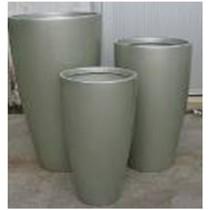 Gray Round 19 cm Fiberglass Planter