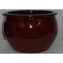 Simple Red Glazed Ht 18'' Ceramic Planter