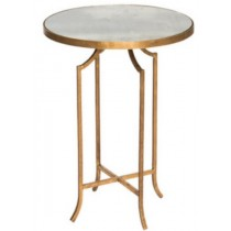 Accent table with white marble, size 40.5x40.5x66 CM