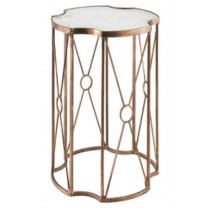 Accent table with white marble, size 30.5x30.5x46 CM