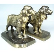 Aluminium Dog Bookends,