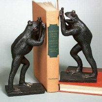 Aluminium Standing Frog Bookends  Size